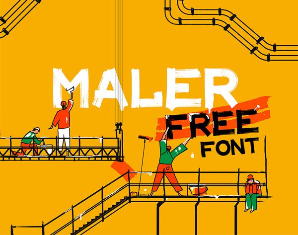 MALER Free Hipster Font
