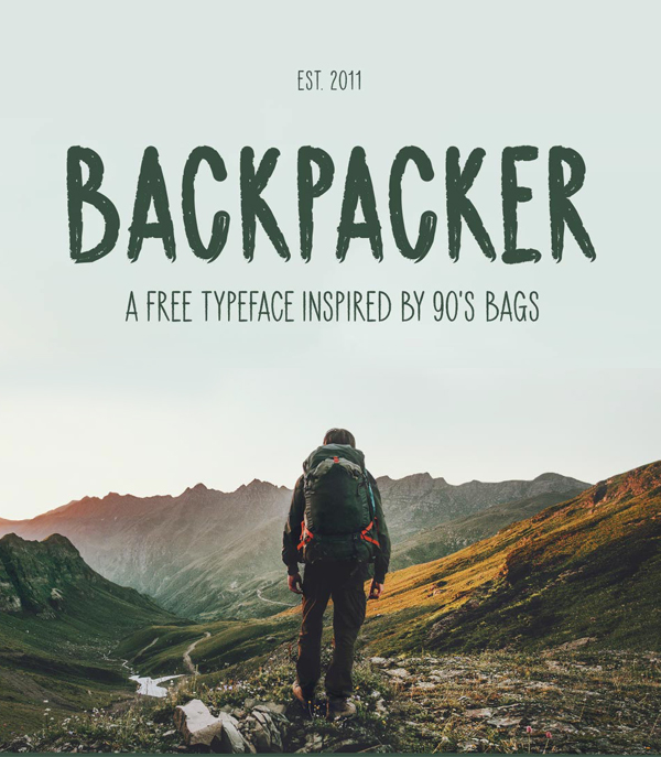 Backpacker Free Hipster Font