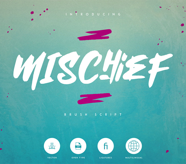 Mischief Brush Script Free Hipster Font