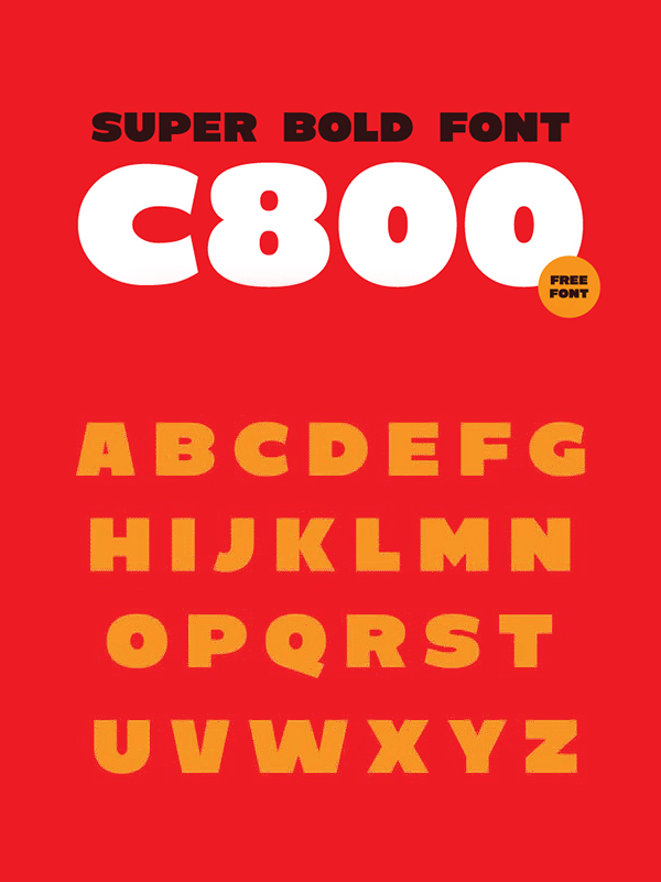 C800 Bold Free Hipster Font
