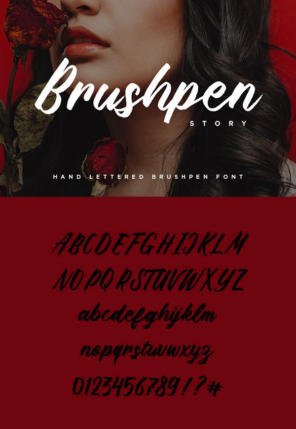 Brushpen Story Brush Free Hipster Font