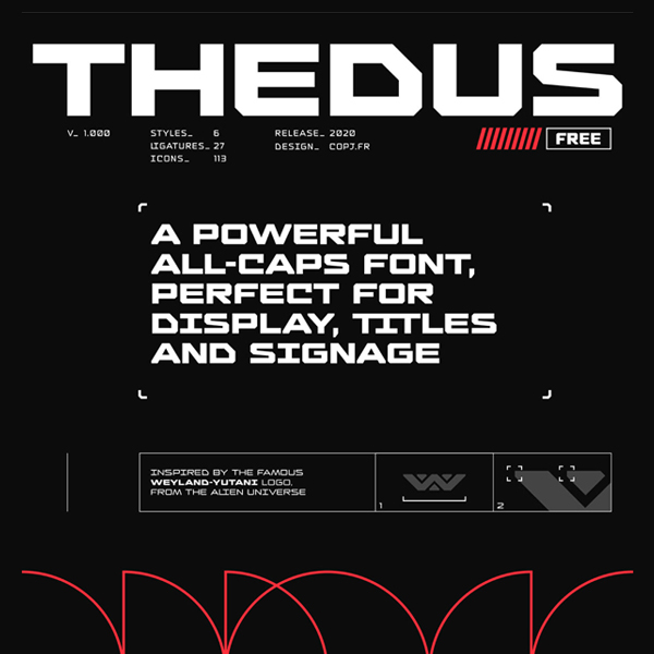 Thedus Free Hipster Font