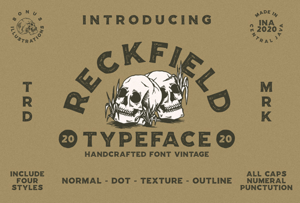 Reckfield Rough Free Hipster Font