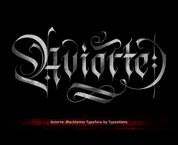 Aviorte Blackletter Free Hipster Font