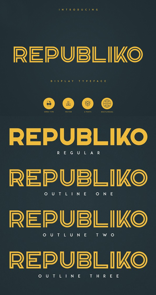 Republiko Free Hipster Font