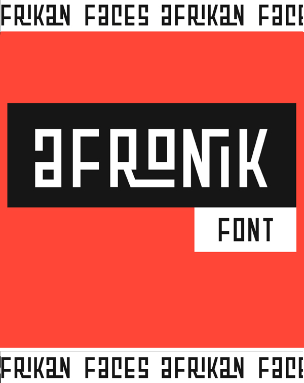 Afronik Free Hipster Font