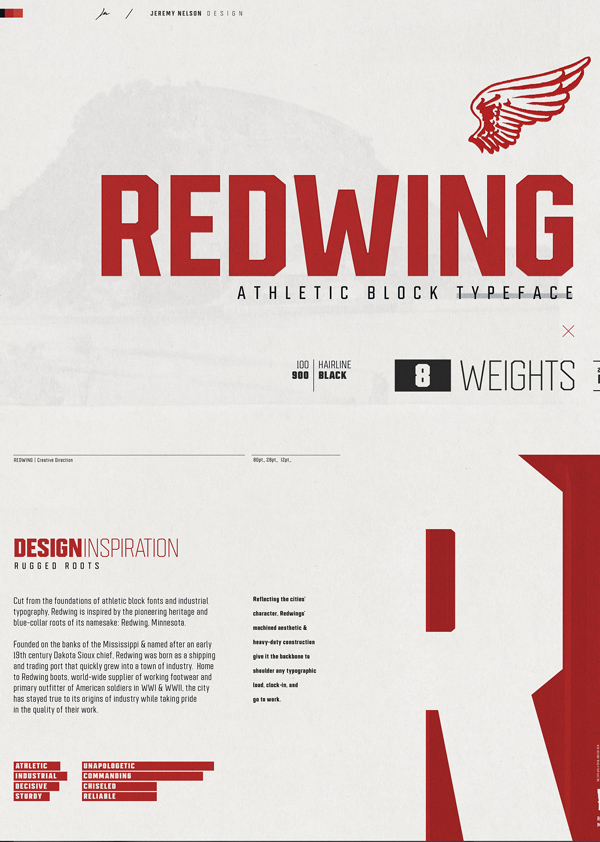 Redwing Free Hipster Font