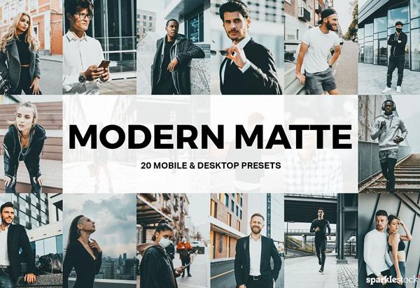 20 Modern Matte Lightroom Presets
