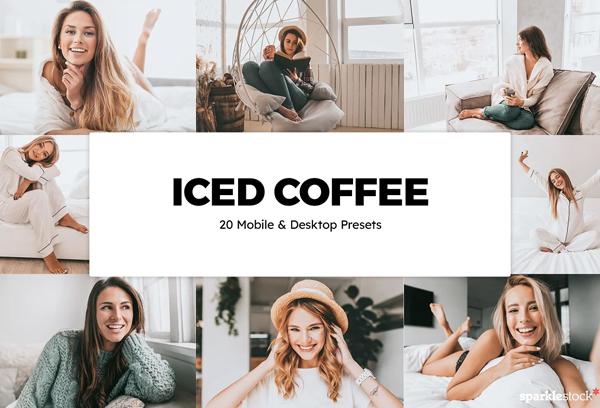 20 Iced Coffee Lightroom Preset LUTs