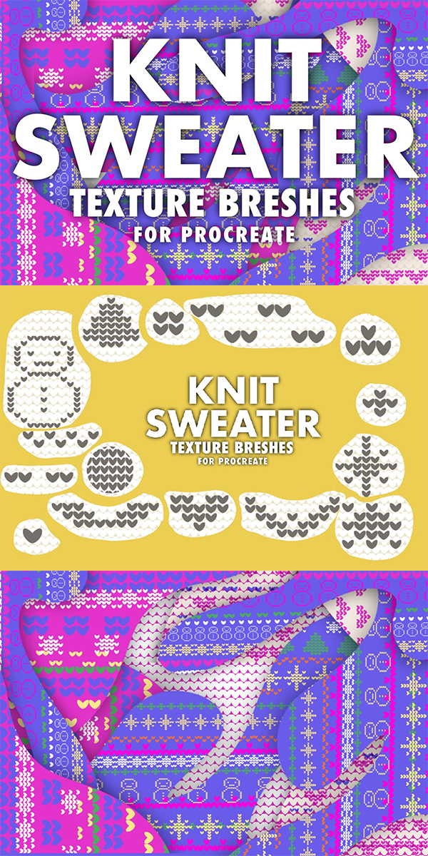 Christmas Knit Sweater Brushes
