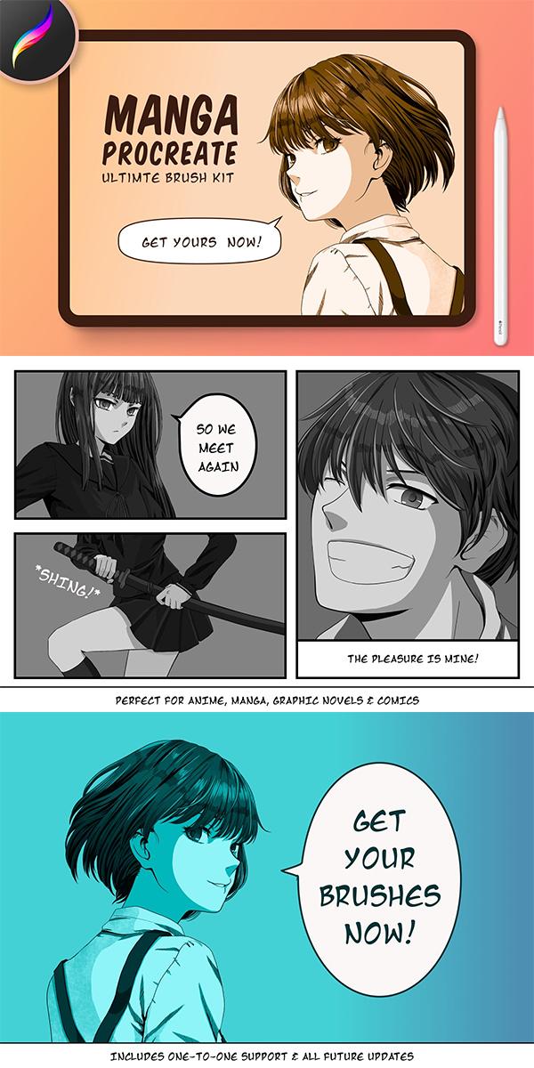 Manga Procreate Brushes
