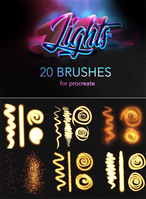 Procreate lights Brushes / Glow