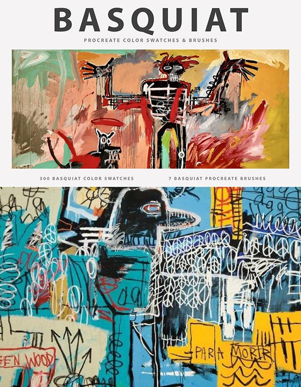 Basquiat's Art Procreate Brushes
