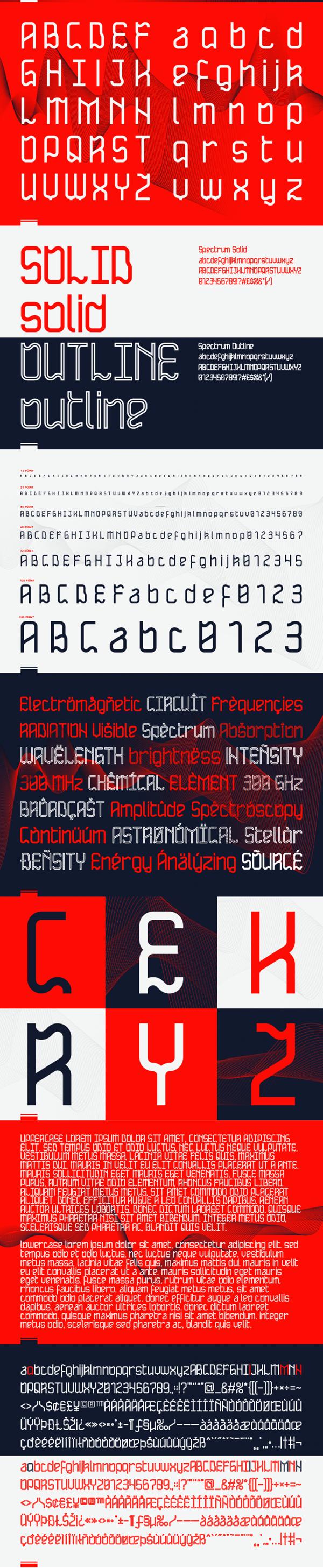 Spectrum Font Letters