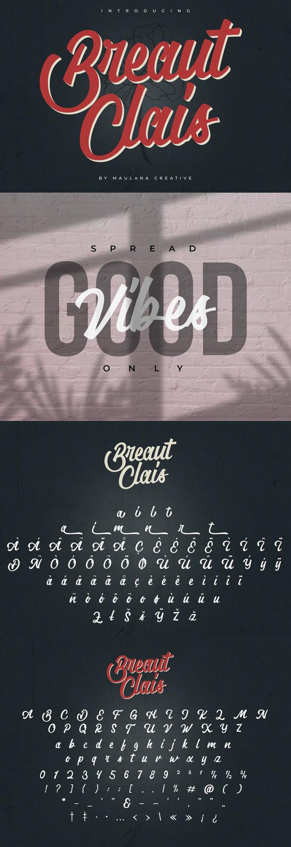 Breaut Clais Vintage Script Font