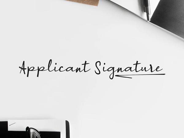 A Applicant Signature Free Font