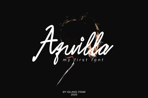 Aquilla Free Font