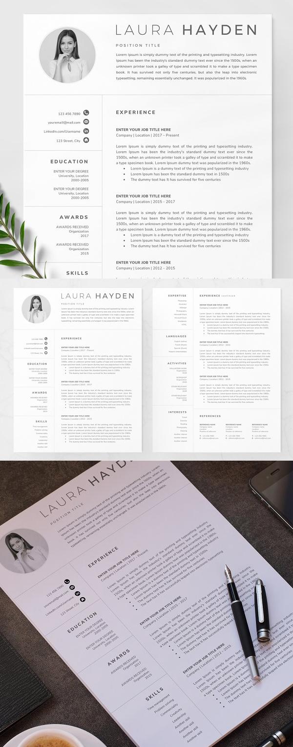 Simple Resume Template / CV