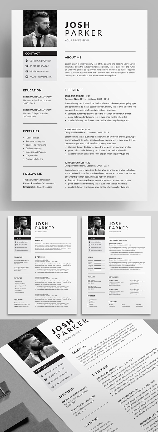Dynamic and Professional Resume Template