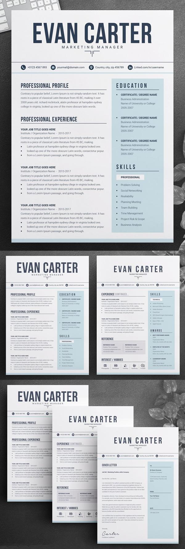 Creative & Professional Resume / CV