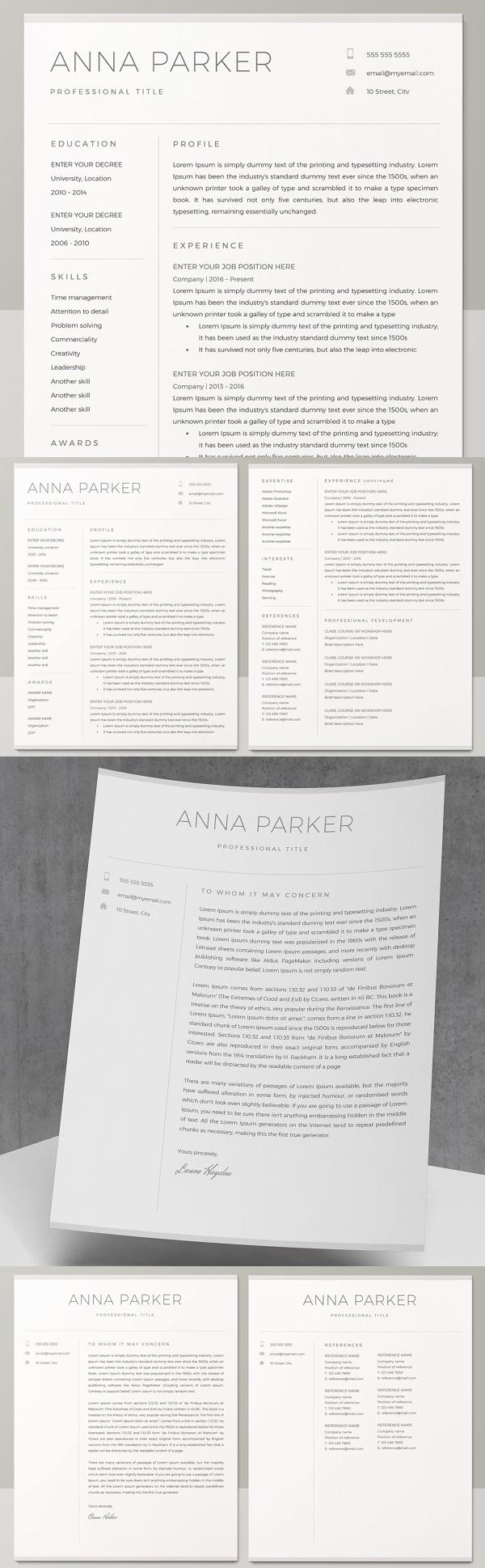 Simple Clean Resume Template / CV