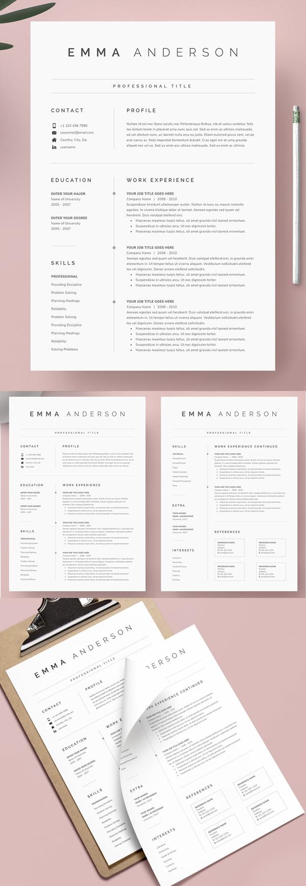 Elegant Word Resume & Cover Letter