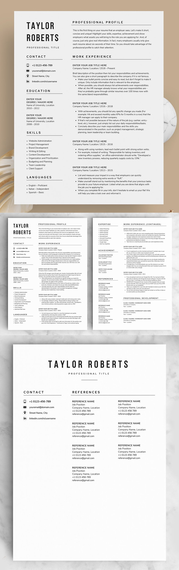 Resume/CV - The Taylor