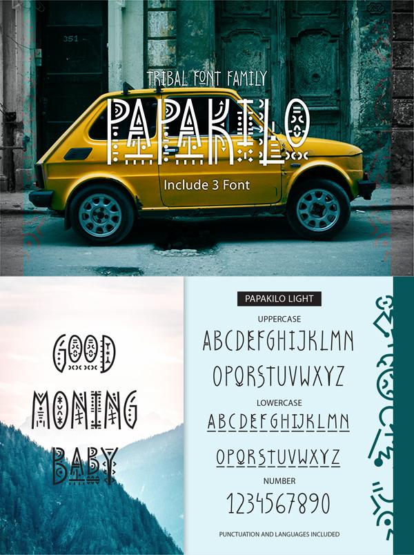 PapaKilo - Tribal Font
