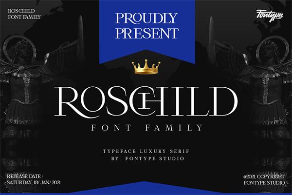 Roschild Font Family - Serif Font