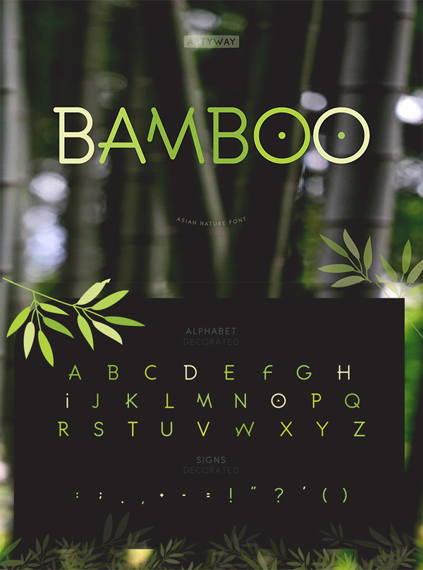 Bamboo Headline Font