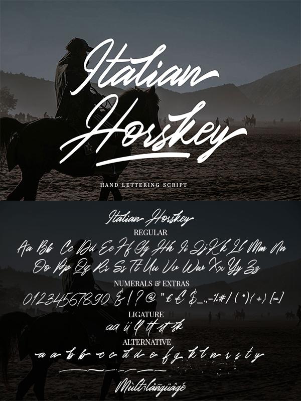 Italian Horskey Signature Handlettering Script