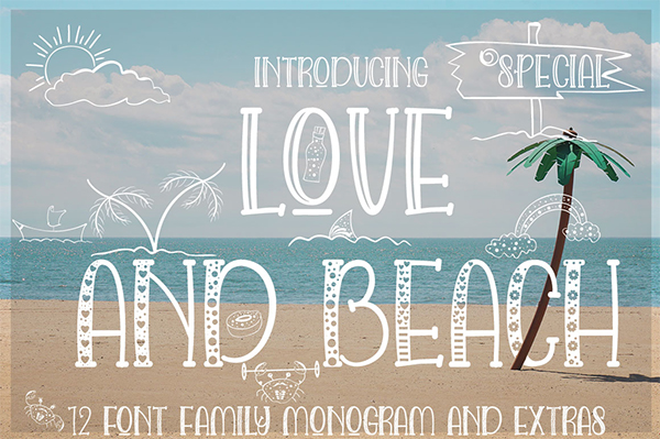 Love And Beach Font