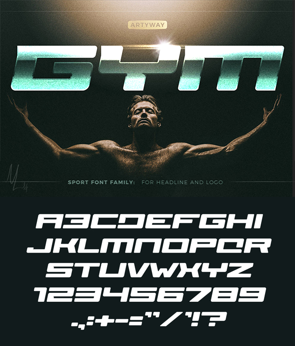 GYM Awesome Font