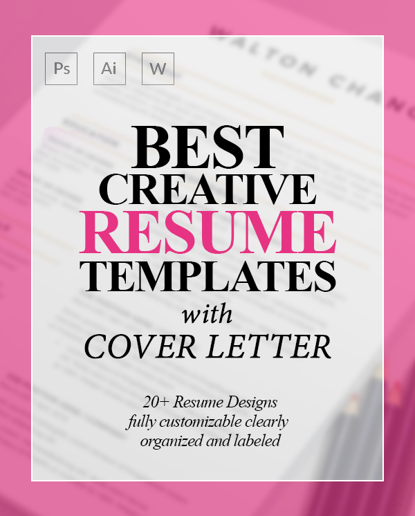 20+ Creative CV / Resume Templates with Cover Letters