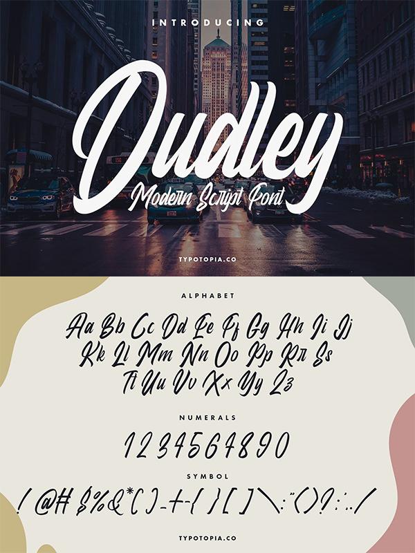 Dudley Modern Script Font