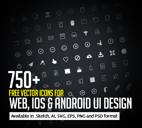 750+ Free Vector Icons for Web, iOS and Android UI Design