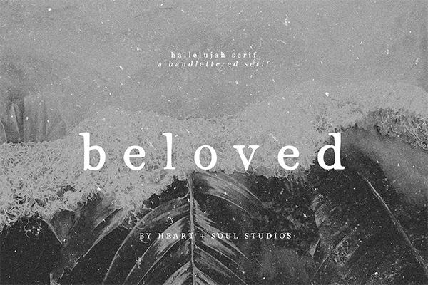 Hallelujah Serif | Handwritten Font