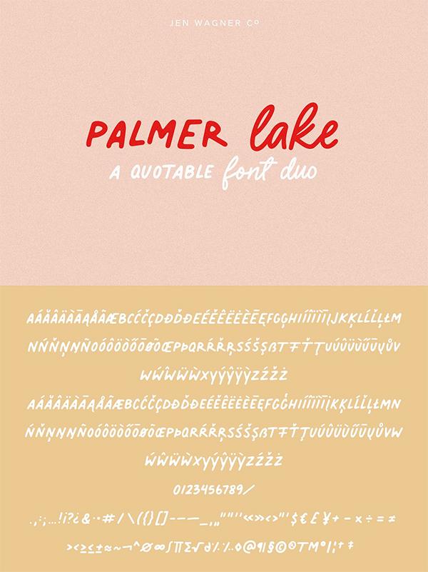 Palmer Lake | A Quotable Font