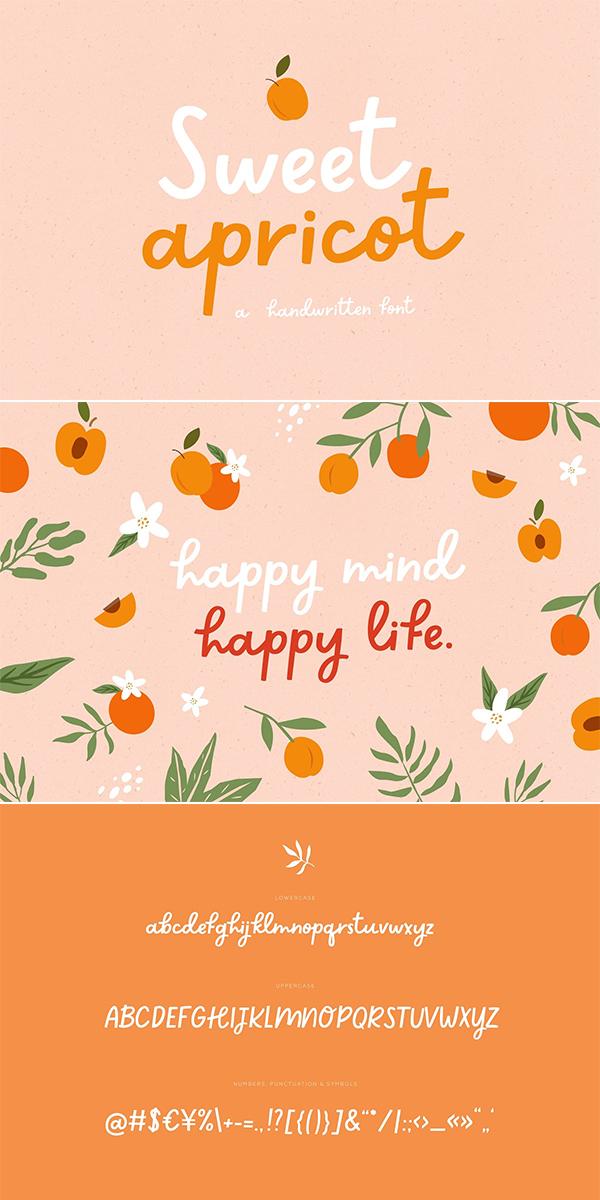 Sweet apricot | Handwritten Font