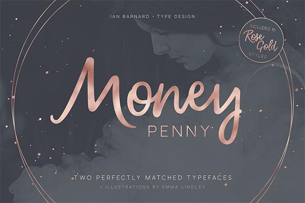 Money Penny - Script & Sans Font
