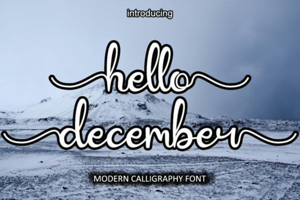 Hello December Free Font