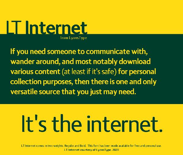 LT Internet Free Font