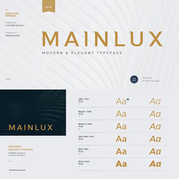Mainlux Free Font