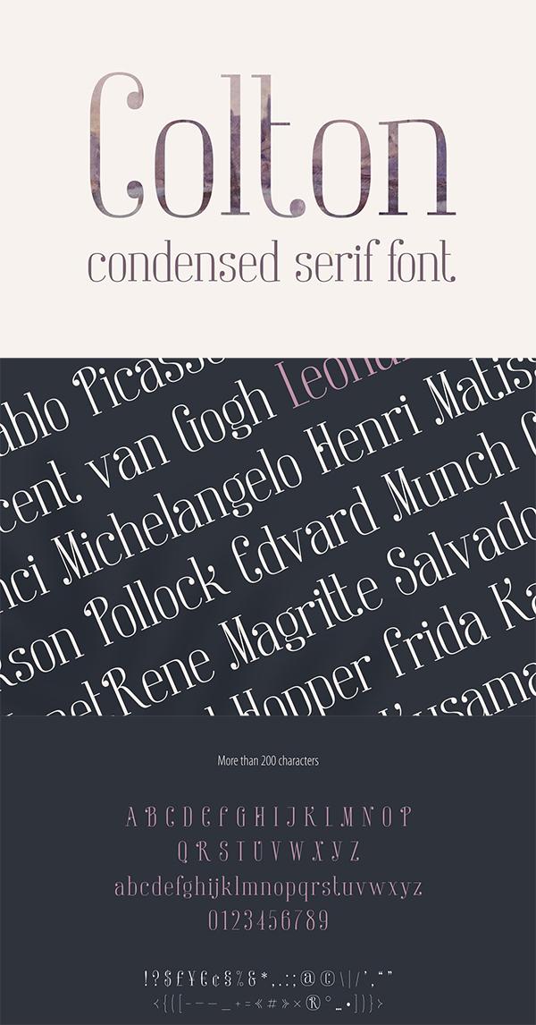 Colton Condensed Serif Font