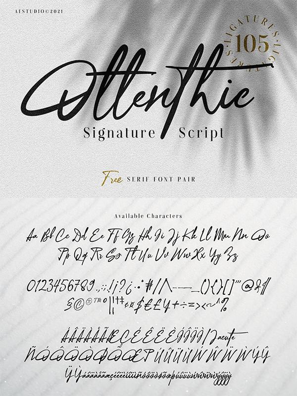 Ottenthic - Signature Font