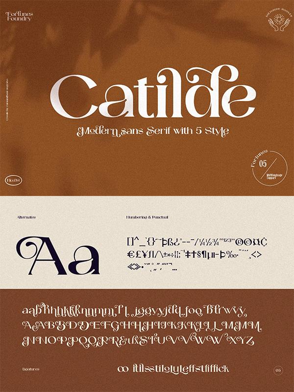 Catilde Modern Sans Serif Font