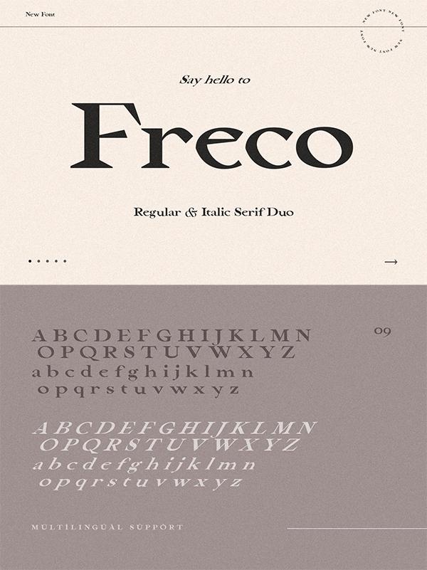Freco - Modern Serif Font