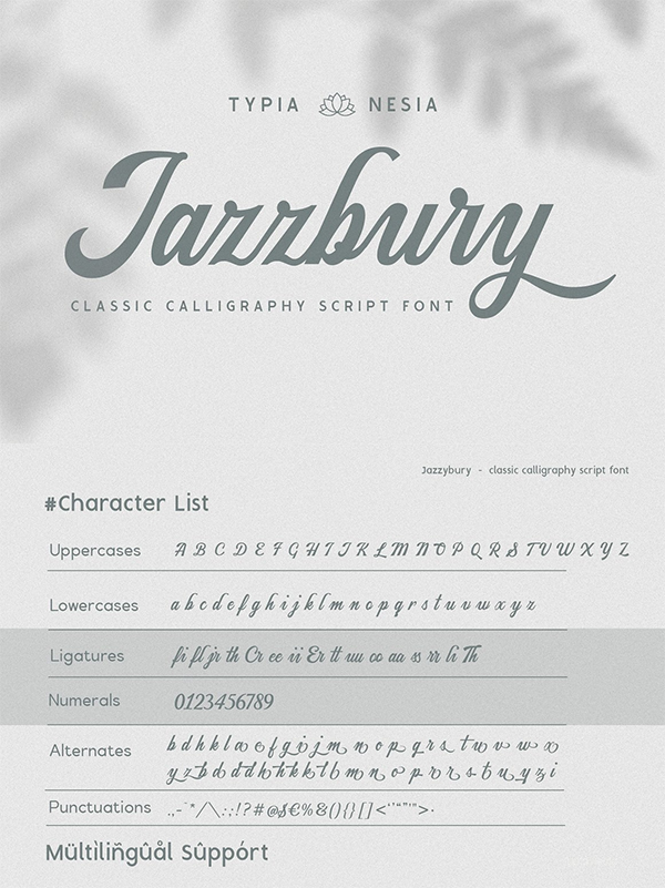 Jazzbury - Classic Script Font
