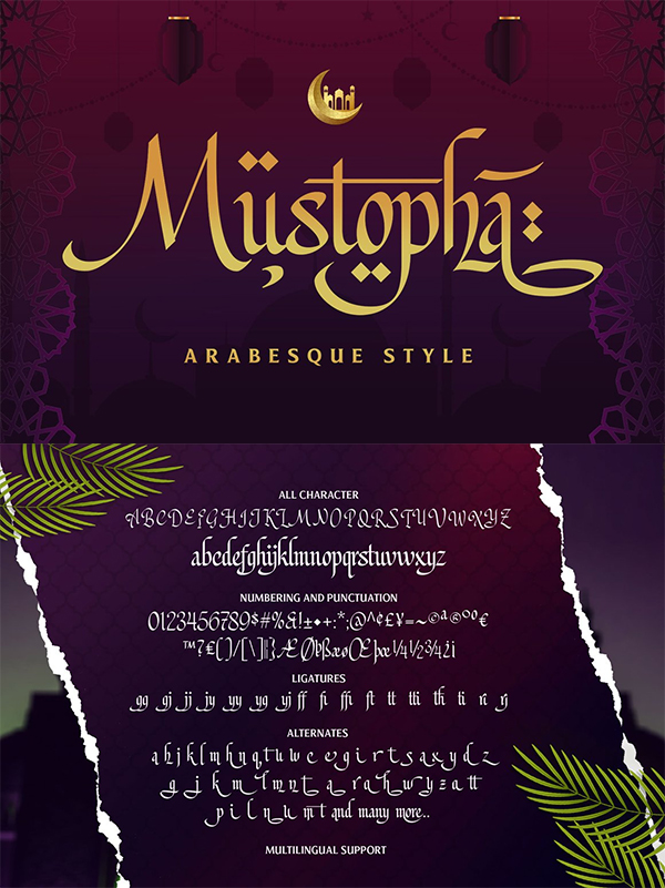 Mustopha - Arabic Style Font