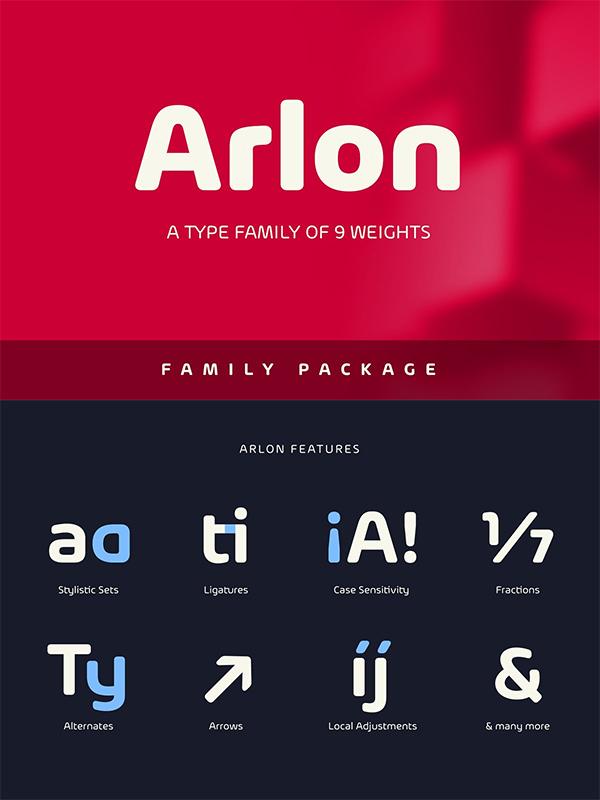 Arlon Family Font